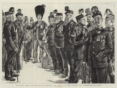 Before the Inspection, a Group of Men of the Corps of Commissionaires