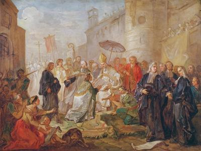 The Solemn Entry of Monseigneur Nicolas-Joseph De Paris as Bishop of Orleans in 734, 1745