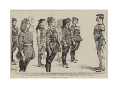 In the Girl's Gymnasium at the People's Palace, Mile End Road, Drill Instruction