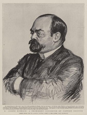 M Joseph Reinach, a Prominent Supporter of Captain Dreyfus