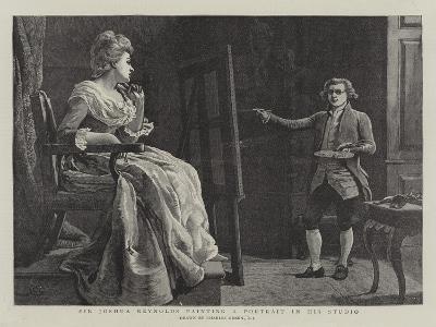 Sir Joshua Reynolds Painting a Portrait in His Studio