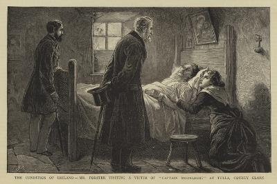 The Condition of Ireland, Mr Forster Visiting a Victim of Captain Moonlight at Tulla, County Clare