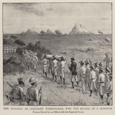 The Funeral of Sergeant Warringham, Who Was Killed in a Skirmish
