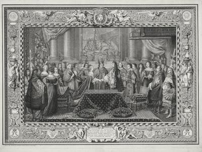 Marriage Ceremony of Louis XIV (1638-1715) King of France and Navarre