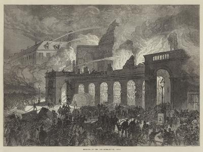 Burning of the Old Opera-House, Paris