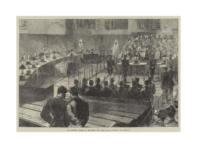 The Communist Trials at Versailles, the Court Cleared, Reading the Sentence
