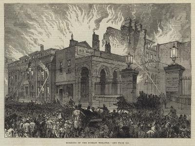 Burning of the Dublin Theatre