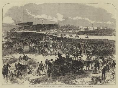 Visit of the Prince and Princess of Wales to Ireland, General View of Punchestown Races
