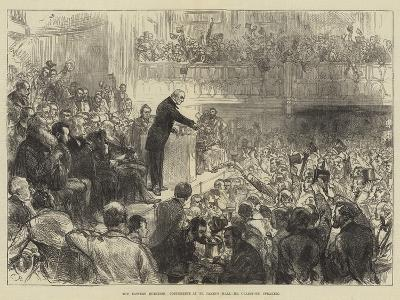 The Eastern Question, Conference at St James's Hall, Mr Gladstone Speaking