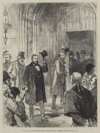 Meeting of the New Parliament, Arrival of New Members in Westminister Hall