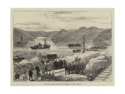 The Kaffir War, Landing of Troops at East London