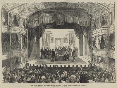 Mr John Mitchel Speaking in the Theatre at Cork on the Tipperary Election