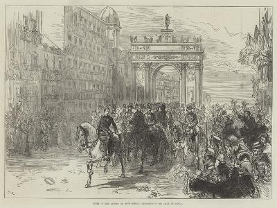 Entry of King Alfonso XII into Madrid, Procession in the Calle De Alcala