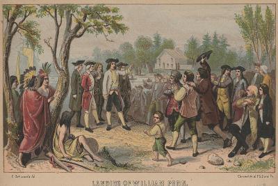 Landing of William Penn, 1852