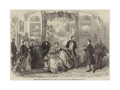 Scene from New Men and Old Acres, at the Haymarket Theatre