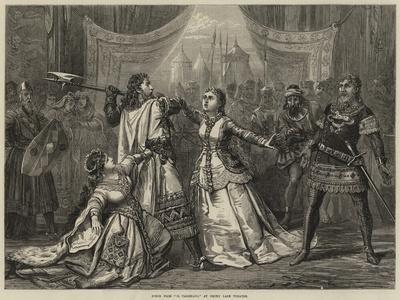 Scene from Il Talismano, at Drury Lane Theatre