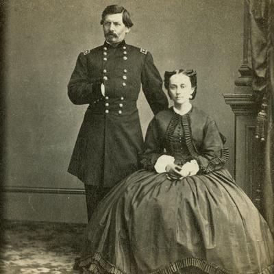 Major General George B. Mcclellan and His Wife