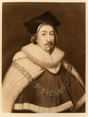 Sir Edward Coke, from 'James I and Vi', Printed by Manzi Joyant and Co. Paris, 1904 (Collotype)