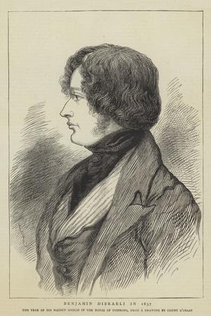 Benjamin Disraeli in 1837
