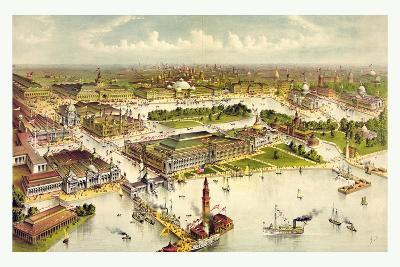 Grand Birds Eye View of the Grounds and Buildings of the Great Columbian Exposition at Chicago