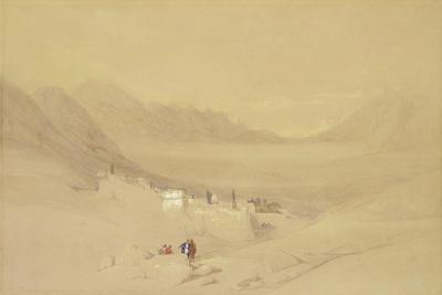 The Convent of St. Catherine, Mount Sinai, Looking Towards the Plain of the Encampment, 1839