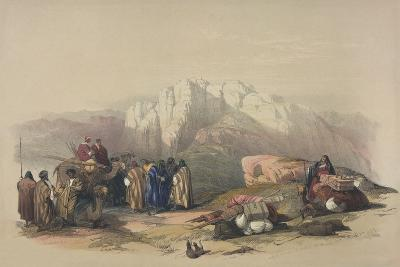 Tomb of Aaron, from 'The Holy Land', Engraved by Louis Haghe (1806-85)