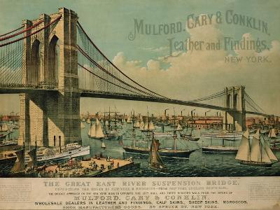 Poster Advertising 'Mulford, Cary and Conklin Leather and Findings', 1877