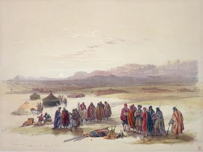 Encampment of the Alloeen in Wady Araba