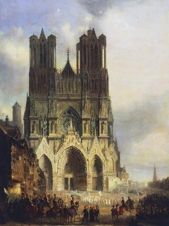 Reims Cathedral, Painting by David Roberts (1796-1864)
