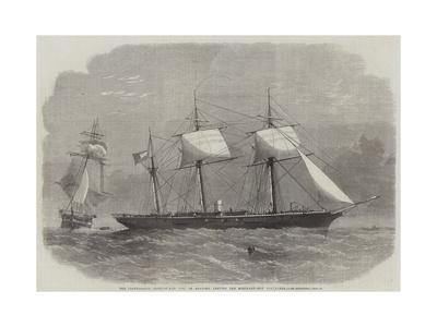 The Confederate Sloop-Of-War 290, or Alabama, Leaving the Merchant-Ship Tonowanda