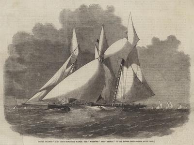 Royal Thames Yacht Club Schooner Match, the Wildfire and Vestal in the Lower Hope