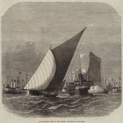 Sailing-Barge Race on the Thames, Rounding at the Nore