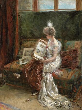 Leonie Garrido Looking at an Album of Prints