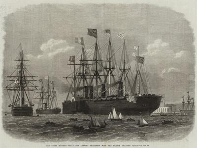 The Great Eastern Steam-Ship Leaving Sheerness with the French Atlantic Cable