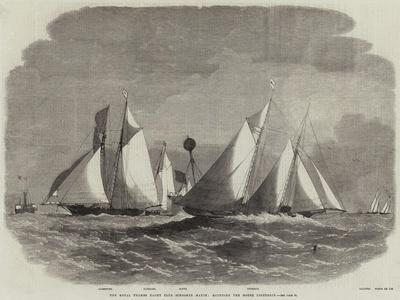 The Royal Thames Yacht Club Schooner Match, Rounding the Mouse Lightship