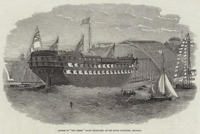 Launch of The Cressy Screw Steam-Ship, at the Royal Dockyard, Chatham