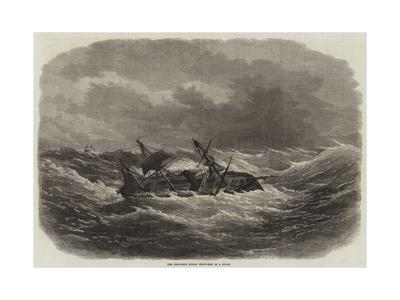 The Crocodile Indian Troop-Ship in a Storm