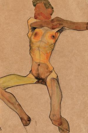 Male Nude, Yellow, 1910