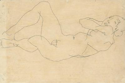 Female Nude with Hands Behind Head, 1914