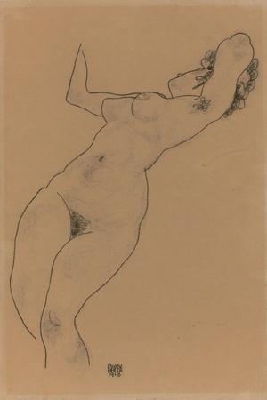Reclining Nude; Liegender Akt, 1918