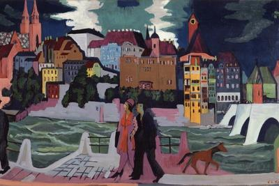 View of Basel and the Rhine, 1927-28