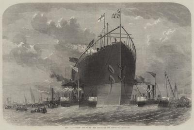 The Leviathan Towed to Her Moorings Off Deptford