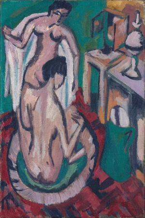 Two Nudes in a Shallow Tub, C. 1912/1913-1920