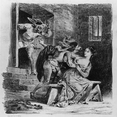 Faust Rescues Marguerite from Her Prison, from Goethe's Faust, 1828