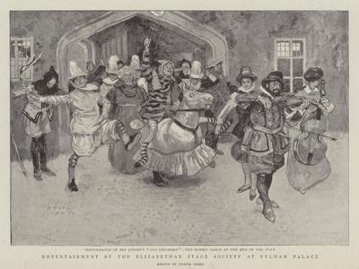 Entertainment by the Elizabethan Stage Society at Fulham Palace