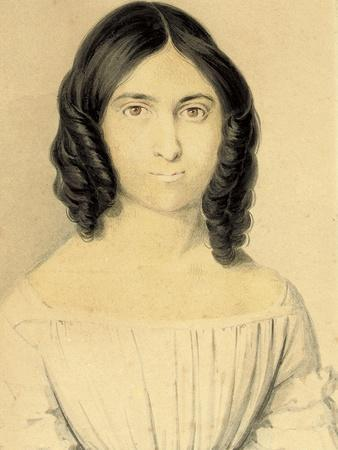 A Portrait of Maria Francesca Rossetti (1827-1876), 1839-40 (Pencil and W/C on Card)