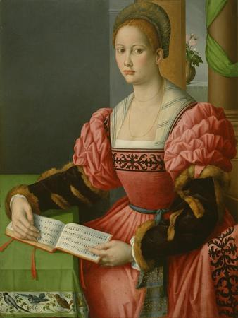 Portrait of a Woman with a Book of Music, C.1540-45