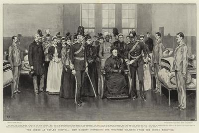 The Queen at Netley Hospital, Her Majesty Inspecting the Wounded Soldiers from the Indian Frontier