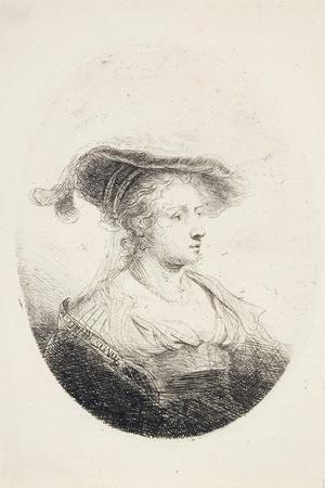 Young Lady with Plumed Hat, 1644