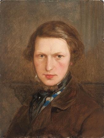 Self Portrait in a Brown Coat, C. 1844